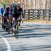 WOODSTOCK, VA - MAR 5: A seven man breakaway, stacked with top talent, gains a 2 minute lead on the peloton during the ToSH road race. Ben (not pictured) closed the 2 minute lead within 7 miles, a feat that did not go unnoticed. (Photo by Jay Westcott/The News & Advance)