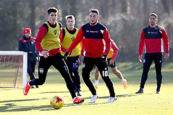 Lee Tomlin of Bristol City and Callum O'Dowda of Bristol City take part in training - Mandatory by-line: Robbie Stephenson/JMP - 19/01/2017 - FOOTBALL - Bristol City Training Ground - Bristol, England - Bristol City Training