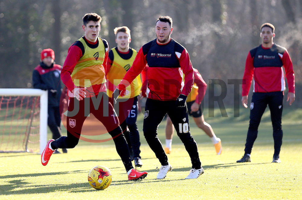 Lee Tomlin of Bristol City and Callum O'Dowda of Bristol City take part in training - Mandatory by-line: Robbie Stephenson/JMP - 19/01/2017 - FOOTBALL - Bristol City Training Ground - Bristol, England - Bristol City Training