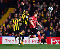 FOOTBALL - 2018 / 2019 Premier League - Watford vs Southampton<br /> <br /> Watford's Etienne Capoue battles for possession with Southampton's Stuart Armstrong, at Vicarage Road.<br /> <br /> COLORSPORT/ASHLEY WESTERN