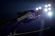 Poland, Wisla Malinka - 2017 November 18: Andreas Wellinger from Germany soars through the air during FIS Ski Jumping World Cup Wisla 2017/2018 - Day 2 at jumping hill of Adam Malysz on November 18, 2017 in Wisla Malinka, Poland.<br /> <br /> Mandatory credit:<br /> Photo by © Adam Nurkiewicz<br /> <br /> Adam Nurkiewicz declares that he has no rights to the image of people at the photographs of his authorship.<br /> <br /> Picture also available in RAW (NEF) or TIFF format on special request.<br /> <br /> Any editorial, commercial or promotional use requires written permission from the author of image.