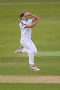 Brad Wheal of Hampshire bowling during the Specsavers County Champ Div 1 match between Hampshire County Cricket Club and Middlesex County Cricket Club at the Ageas Bowl, Southampton, United Kingdom on 16 April 2017. Photo by David Vokes.