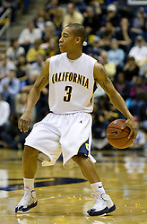 February 27, 2010; Berkeley, CA, USA;  California Golden Bears guard Jerome Randle (3) during the first half against the Arizona State Sun Devils at Haas Pavilion. California defeated Arizona State 62-46.
