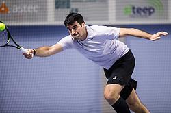 Damir Konjar at Recreational tennis doubles tournament BTC Medot, on January 14, 2017 in SC Millenium, BTC, Ljubljana, Slovenia. Photo by Vid Ponikvar / Sportida