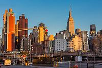 NEW YORK CITY- MARCH 26, 2018 : Manhattan midtown building skyline   one of the main Landmarks