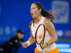 September 26, 2018 - Daria Kasatkina of Russia in action during her third-round match at the 2018 Dongfeng Motor Wuhan Open WTA Premier 5 tennis tournament (Credit Image: © AFP7 via ZUMA Wire)