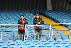 Two Mayo Gaa stewarts keeping an eye on proceedings during the County Junior semi-finals at McHale Park.<br /> Pic Conor McKeown
