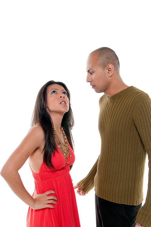 Young woman very unhappy with her boyfriend and stressed.