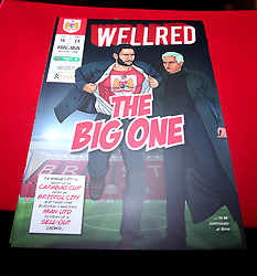 Bristol City match day programme for the Carabao Cup Quarter Final tie against Manchester United - Mandatory by-line: Robbie Stephenson/JMP - 20/12/2017 - FOOTBALL - Ashton Gate Stadium - Bristol, England - Bristol City v Manchester United - Carabao Cup Quarter Final