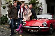16.06.12.  Celebrity Antiques Road Trip, <br /> Jon Culshaw &amp; Debra Stephenson with experts Thomas Plant &amp; Mark Stacey<br /> <br /> pics courtesy, STV Press Office, 01413003670 <br /> <br />                     credit Graeme Hunter Pictures,<br />   &quot; Sunnybank Cottages &quot; 117 Waterside Rd, Carmunnock,<br />                         Glasgow. U.K.  G76 9DU. <br />  Tel.01416444564 m.07811946280 fax.01416444937<br />                 email - &quot;graemehunter@mac.com&quot;