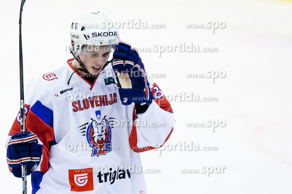 Ziga Jeglic of Slovenia during friendly ice-hockey match between Slovenia and Switzerland, on December 14, 2011 at Hala Tivoli, Ljubljana, Slovenia. (Photo By Matic Klansek Velej / Sportida)