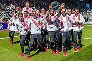 ALKMAAR - 01-05-2016, AZ - de Graafschap, AFAS Stadion, AZ onder 16 kampioen.