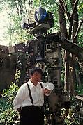 VENICE, ITALY..June 1993..45th Biennale of Venice.German Pavillion..Nam June-Paik..(Photo by Heimo Aga)