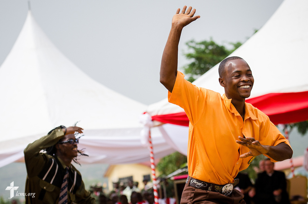 Performers entertain guests during the dedication of the Lutheran Theological Seminary of the Evangelical Lutheran Church of Ghana on Sunday, Feb. 2, 2014, in Greater Accra, Ghana. LCMS Communications/Erik M. Lunsford