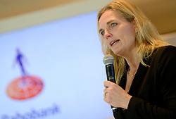 13-01-2014 WIELRENNEN: PRESENTATIE RABOBANK LIV DAMESTEAM 2014: UTRECHT<br /> In het hoofdkantoor van Rabobank Nederland werd het Rabo damesteam gepresenteerd / Heleen Crielaard, hoofd sponsoring Rabobank<br /> &copy;2014-FotoHoogendoorn.nl