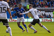 Leandro Bacuna of Cardiff City takes on Matt Grimes of Swansea City during the EFL Sky Bet Championship match between Cardiff City and Swansea City at the Cardiff City Stadium, Cardiff, Wales on 12 January 2020.