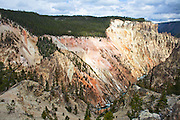 View from Artist's Point in Yellowstone National Park.
