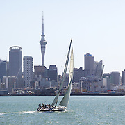 Yacht's sailing in the Hauraki Gulf in Auckland Harbour. Auckland, North Island. New Zealand, 26th November 2010. Photo Tim Clayton.