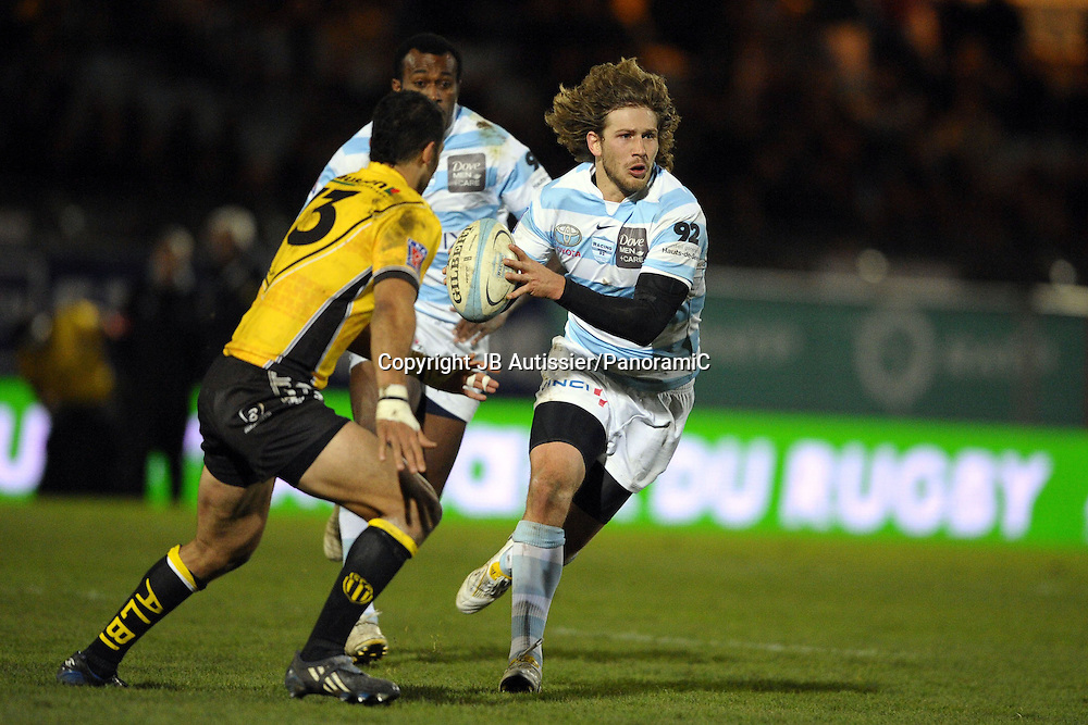 Francois Steyn - Racing Metro 92 /Albi - Top 14 Top14 - Rugby - 27.11.2009 - largeur action