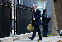 © Licensed to London News Pictures. 29/10/2018. London, UK. Environment, Food and Rural Affairs Secretary Michael Gove arriving in Downing Street for a cabinet meeting, ahead of the Chancellor of the Exchequer Philip Hammond's autumn budget statement this afternoon. Photo credit : Tom Nicholson/LNP