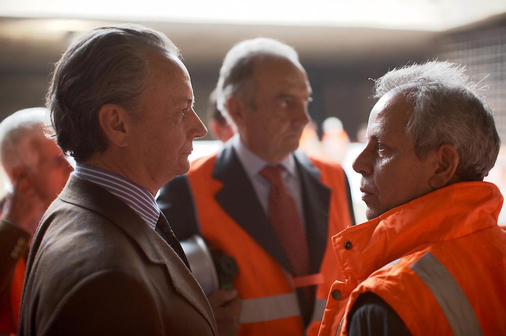 07 OCT 2008 - Torino - Lavori per la Metropolitana Automatica: sfondamento del diaframma alla stazione Nizza. Enrico Ghella