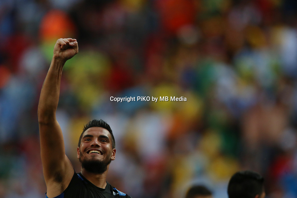 Fifa Soccer World Cup - Brazil 2014 - <br /> ARGENTINA (ARG) Vs. BELGIUM (BEL) - Quarter-finals - Estadio Nacional Brasilia -- Brazil (BRA) - 05 July 2014 <br /> Here Argentine players celebrating afar win the match.<br /> Here GK Sergio Romero<br /> &copy; PikoPress