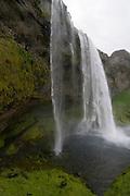Big waterfall of Seljandsfoss. Iceland.
