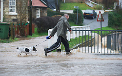 © Licensed to London News Pictures. 26/11/2012..Loftus, North Yorkshire, England..Another night of heavy rain causes disruption in parts of East Cleveland and North Yorkshire with heavy floods in the small town of Loftus in North Yorkshire...Photo credit : Ian Forsyth/LNP