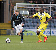 Dundee's Martin Boyle races past St Mirren's Isaac Osbourne - Dundee v St Mirren, SPFL Premiership at <br /> Dens Park<br /> <br />  - &copy; David Young - www.davidyoungphoto.co.uk - email: davidyoungphoto@gmail.com