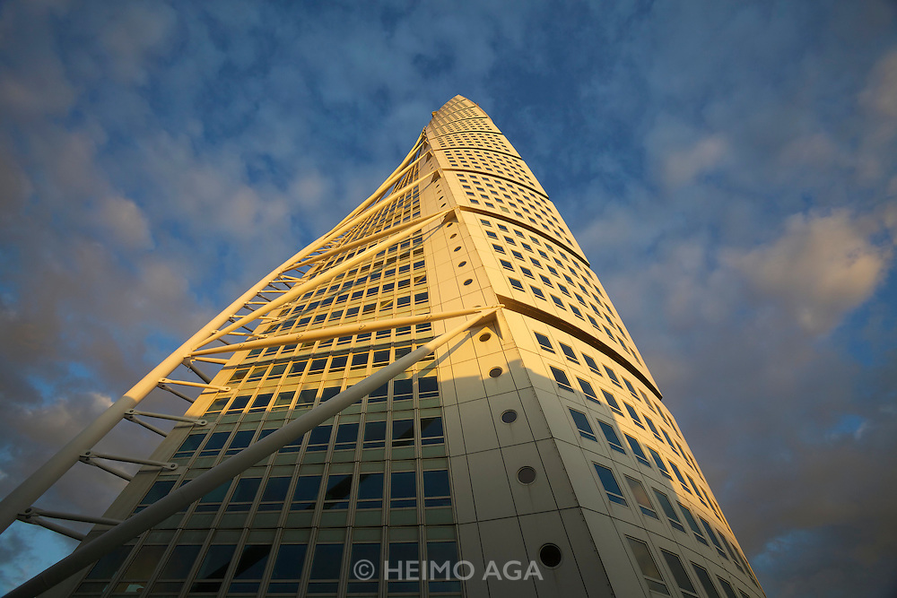 Malmö. The HSB Turning Torso is a uniquely constructed skyscraper. It was designed by Spanish architect Santiago Calatrava and officially opened on 27 August 2005.