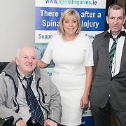 NO REPRO FEE.<br /> 02/04/2015<br /> Picture at the Spinal Injuries Ireland Lunch at the Marker Hotel, Dublin were<br /> Bernard Healey (left), Fiona Bolger, CEO of Spinal Injuries Ireland and Johnny Murphy.<br /> Pic: Alan Rowlette
