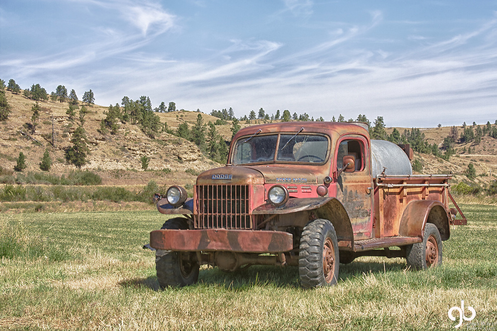 Found this Dodge pickup in Forest Grove Montana