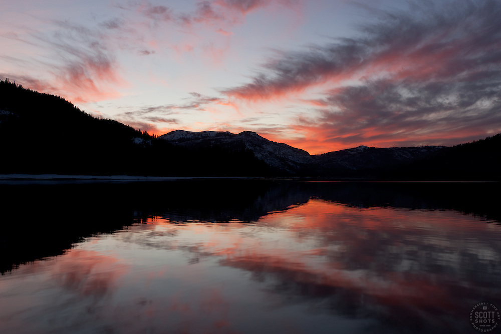 """Donner Lake Sunset 2"" - This sunset was photographed from the East end of Donner Lake, Truckee."