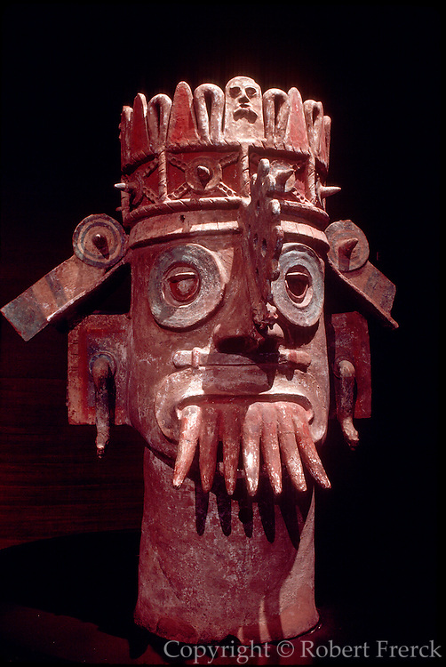 MEXICO, MEXICO CITY, MUSEUM Totonac; brazier in form of Tlaloc