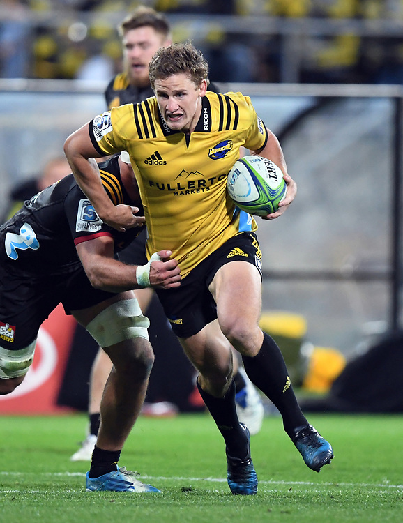 Hurricanes Richard Judd against the Chiefs in the Super Rugby match at Westpac Stadium, Napier, New Zealand, Friday, April 13, 2018. Credit:SNPA / Ross Setford