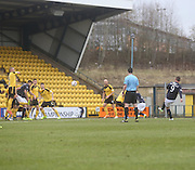 Peter MacDonald open the scoring for Dundee - Livingston v Dundee - SPFL Championship at Almondvale <br />  - &copy; David Young - www.davidyoungphoto.co.uk - email: davidyoungphoto@gmail.com