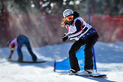 Snowboarder Cross Action, ROUNDY Nicole, USA at the 2016 IPC Snowboard Europa Cup Finals and World Cup