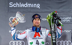 """29.01.2019, Planai, Schladming, AUT, FIS Weltcup Ski Alpin, Slalom, Herren, Siegerehrung, im Bild Alexis Pinturault (FRA, zweiter Platz) // during the winner Ceremony for the men's Slalom """"the Nightrace"""" of FIS ski alpine world cup at the Planai in Schladming, Austria on 2019/01/29. EXPA Pictures © 2019, PhotoCredit: EXPA/ Erich Spiess"""