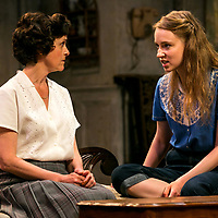 The Chalk Garden by Enid Bagnold;<br /> Directed by Alan Strachan;<br /> Emma Curtis (as Laurel);<br /> Amanda Root (as Miss Madrigal);<br /> Chichester Festival Theatre; Chichester;<br /> 30 May 2018.<br /> © Pete Jones <br /> pete@pjproductions.co.uk