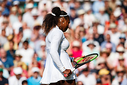 July 14, 2018 - London, England, U.S. - LONDON, ENG - JULY 14: SERENA WILLIAMS (USA) during day twelve match of the 2018 Wimbledon on July 14, 2018, at All England Lawn Tennis and Croquet Club in London,England. (Photo by Chaz Niell/Icon Sportswire) (Credit Image: © Chaz Niell/Icon SMI via ZUMA Press)