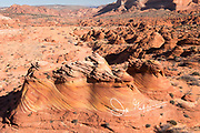 Rock formations in Coyote Buttes part of the Vermilion Cliffs National Monument in Arizona.