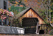 Covered bridge, Middle Bridge,  Woodstock, Vermont, USA