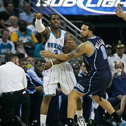 05 April 2009: New Orleans Hornets guard Chris Paul (3) passes away from Utah Jazz guard Deron Williams (8) during a 108-94 loss by the New Orleans Hornets to the Utah Jazz at the New Orleans Arena in New Orleans, Louisiana.