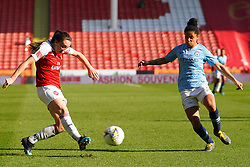 February 23, 2019 - Sheffield, England, United Kingdom - Lisa Evans of Arsenal against Demi Stokes of Manchester City..during the FA Women's Continental League Cup Final football match between Arsenal Women and Manchester City Women at Bramall Lane on February 23, 2019 in Sheffield, England. (Credit Image: © Action Foto Sport/NurPhoto via ZUMA Press)