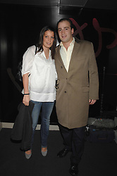 JAMES AMOS and his sister POLLY AMOS at a party hosted by Kitts nightclub in honour of Ed Godrich to than him for his work on designing the club in Sloane Square, London on 1st March 2007.<br />