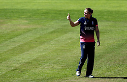 Heather Knight of England Women gives a thumbs up after her side's win over Sri Lanka Women - Mandatory by-line: Robbie Stephenson/JMP - 02/07/2017 - CRICKET - County Ground - Taunton, United Kingdom - England Women v Sri Lanka Women - ICC Women's World Cup Group Stage