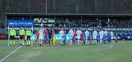 FODBOLD: De to hold går på banen til kampen i ALKA Superligaen mellem FC Helsingør og FC Nordsjælland den 18. marts 2018 på Helsingør Stadion. Foto: Claus Birch.