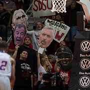 28 November 2016: The San Diego State Aztecs men's basketball team plays host to the Savannah State Tigers monday night at Viejas Arena.  The Aztecs beat the Tigers 100-67. www.sdsuaztecphotos.com