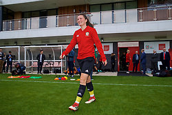 NEWPORT, WALES - Tuesday, August 28, 2018: Wales' Helen Ward during a training session at Dragon Park ahead of the final FIFA Women's World Cup 2019 Qualifying Round Group 1 match against England. (Pic by David Rawcliffe/Propaganda)