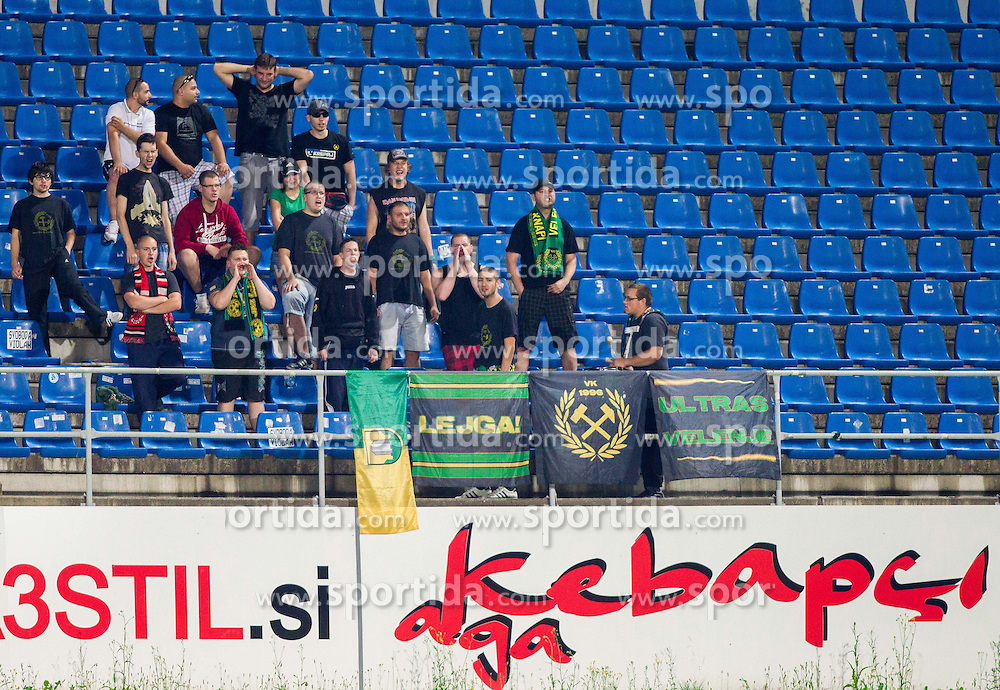 Fans of Rudar during football match between NK Rudar Velenje and KF Laci (Albania) in 1st Round of UEFA Europa League Qualifications on July 3, 2014 in Arena Petrol, Celje, Slovenia. Photo By Vid Ponikvar / Sportida